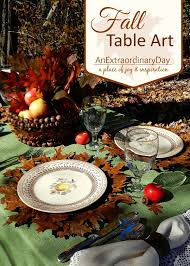 table for fall or thanksgiving table settings an