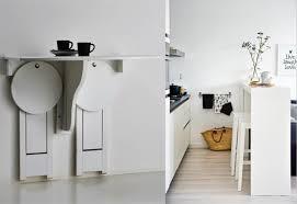 table haute avec tabouret pour cuisine table murale pour une cuisine plus sympa