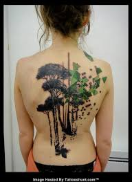abstract tree tattoos on back tattooshunt com