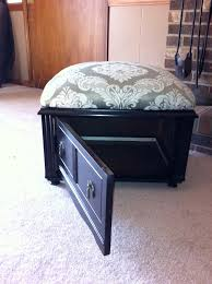 Made Ottoman by Storage Ottoman I Made From A Sewing Machine Cabinet Fun