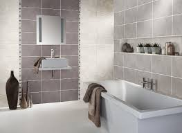 bathroom tile colour ideas using a feature wall of tiles in a different colour is a great way