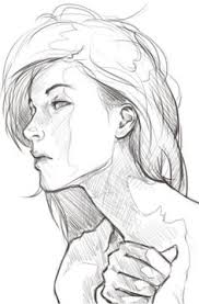 drawing the human face woman frontal view by cuong nguyen