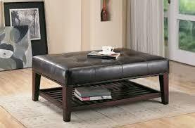 coffee table leather rectangular ottoman coffee table sample