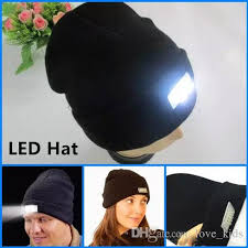 running hat with lights wholesale best quality brand winter warm beanies hat led light