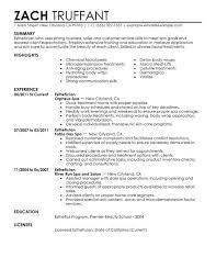esthetician resume samples free resumes tips