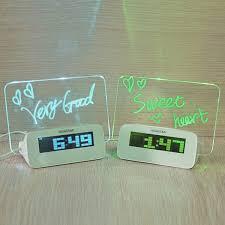 sveglia comodino da tavolo sveglia con pannello luminoso led usb per messaggi