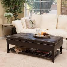 Wood Storage Ottoman Felix Brown Wood Rectangle Storage Ottoman Coffee Table With