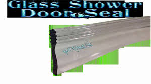 clear vinyl framed shower door drip sweep wipe seal angled 36 long