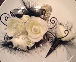 prom wrist corsage ideas wrist corsage pretty with gold where black is floral