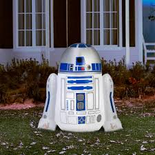 r2d2 halloween costumes gemmy airblown inflatable 4 u0027 x 4 u0027 star wars r2d2 walmart com