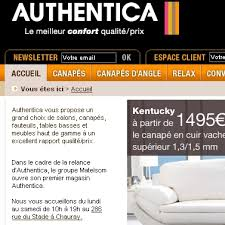 authentica canapé catalogue authentica spécialiste du salon