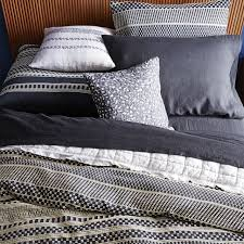 organic washed woven dot duvet cover shams west elm