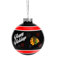 chicago blackhawks glass ornament shop nhl