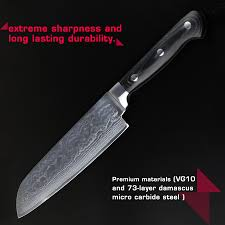 online shop 5 piece kitchen knives set damascus steel janpanese