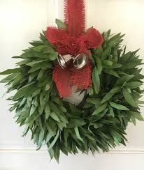 bay leaf wreath bay leaf wreath with jute bow with bells mcfadden farm