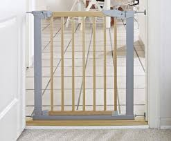 Baby Stair Gates Babydan Avantgarde True Pressure Fit Safety Gate Beech Silver