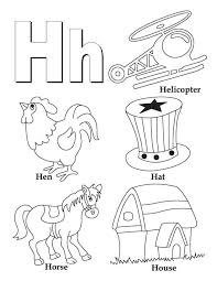 Coloring Pages With Letter H | my a to z coloring book letter h coloring page low pinterest