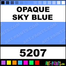 opaque sky blue professional fabric textile paints 5207 opaque