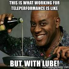Lube Meme - this is what working for teleperformance is like but with lube
