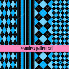 black and white seamless texture with pink blue fashion bright
