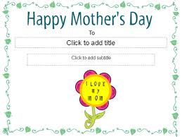 happy mother u0027s day certificate free certificate templates in