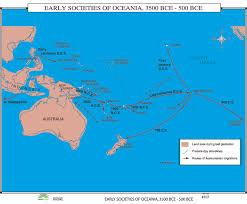 Oceania Map 107 Early Societies Of Oceania 3500 500 Bce Ebay