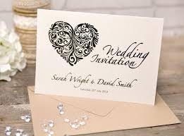 folded wedding invitations vintage heart collection a5 folded wedding invitations