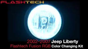 2002 jeep liberty fog lights jeep liberty v 3 fusion colorchange halo headlight kit 2002 2007
