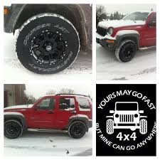 02 jeep liberty lifted 3 inches with 31 u0027 tires and 16 u0027 rims