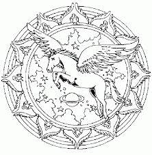 Coloriage imprimer gratuit mandala chevaux  1001 Animaux