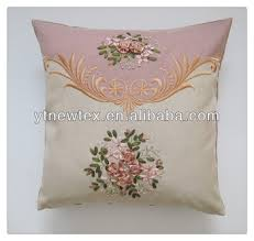 Sofa Cushion Cover Replacement by Hand Embroidery Flower Design Sofa Cushion Cover Buy Ribbon
