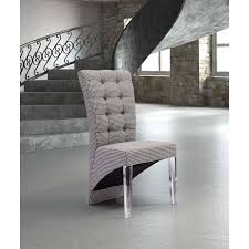 waldorf houndstooth fabric and acrylic modern dining chair set of