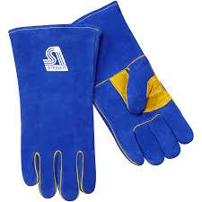 Split Cowhide Premium Side Split Cowhide Stick Welding Gloves Thermocore Foam