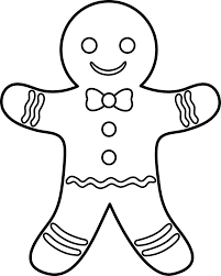 gingerbread man coloring az coloring pages gingerbread man