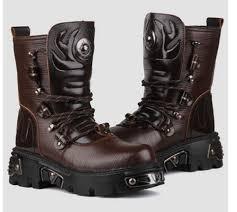 2015 top punk rock men u0027s fashion army motorcycle cool boot pu