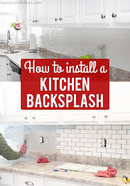 how to cut tile around cabinets how to install a kitchen backsplash the best and easiest