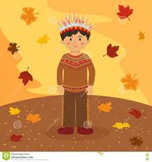 thanksgiving american thanksgiving indian boy cartoon stock vector image 73114183