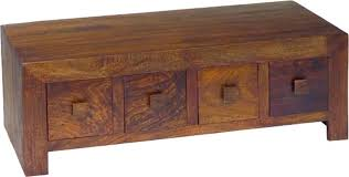 Walnut Wood Coffee Table Buy Jaipur Dakota Walnut Mango Wood Coffee Table 8 Drawer