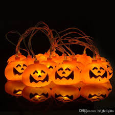 pumpkin lights pumpkin grimace led string lights by impress