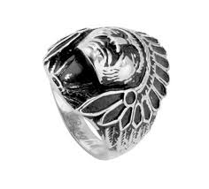 mens rings sale images Sale chief indian head ring native american face biker rings for
