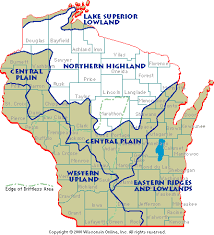 Wisconsin mountains images Wisconsin geographical provinces northern highland gif
