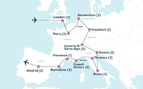 Map Snap Europe by Grand Tour Of Europe Fun Affordable Group Travel Ef College Break