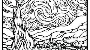 coloring page for van van gogh coloring pages van coloring page van coloring pages van
