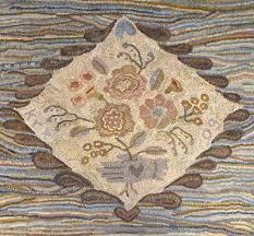 heart in hand primitive floral rug hooking patterns on