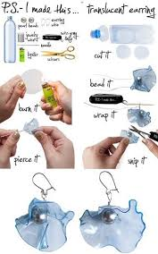 how to make feather earrings with how to make feather earrings from recycled plastic bottles fab