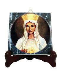 catholic gifts and more religious gifts our of beauraing catholic icon on tile