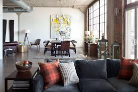 Loft Living Room by Urban Loft Redesigned For Business And Pleasure Griffith