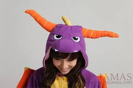 Spyro Dragon Halloween Costume Animal Onesie Spyro Onesie Kigurumi Pajamas