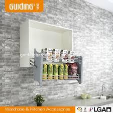 kitchen cabinet wire storage lift basket buy lift basket cabinet