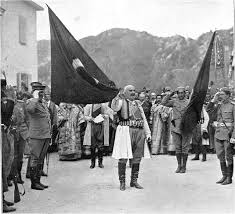 King Ottoman File King Nicholas Of Montenegro With Captured Ottoman Flag Png